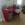 mesa de cristal laminar ensamblado color rojo
